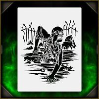 Zombie Grave Crawler 3 - Airbrush Stencil Template Airsick Zombies