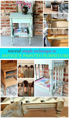 How to antique furniture. You can antique painted furniture using Caromal Colours Toner. The process is easy and the finish looks fantastic.