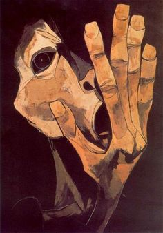 Poster Artist: Oswaldo Guayasamin 1983 Dimension: 27 X 19 This poster is covered with rigid plastic, it's durable and protects the contents from damage and wear. Kunst Inspo, Art Inspo, Art And Illustration, Abstract Portrait, Abstract Art, Hand Kunst, Modern Art, Contemporary Art, Figurative Kunst