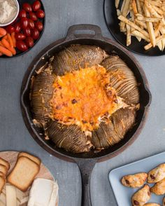 Loaded Hasselback Potatoes And Dip