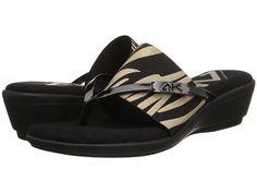 Anne Klein Anne Klein  Icaro NaturalBlack Tiger Stripe Womens Sandals for 32.81 at Im in!