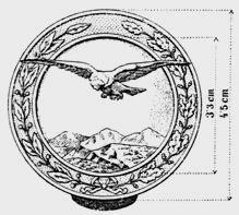 Austro-Hungarian Army - Qualification Badges - Badge for skillful range estimators. 1914 1918. WW1.