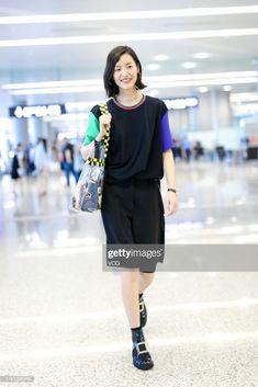 Model Liu Wen arrives at Hongqiao airport on July 2019 in. Liu Wen, July 11, China, Star Fashion, Spotlight, Model, Inspiration, Style, Outfits