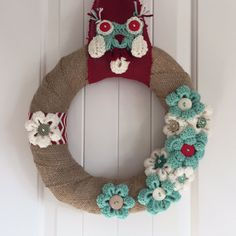 Ready to Ship: Rustic Winter Wreath Winter Home by GirlCanHook