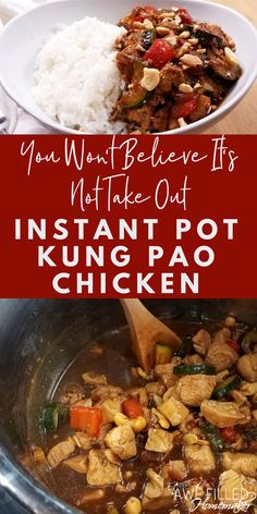 We love to get King Pao Chicken when we go out to eat! However, we want to eat healthier dishes- at home! This recipe is amazing if you love Kung Pao and love using your instant pot! #InstantPot #PressureCooker #KungPao #ChineseFood  via @AFHomemaker