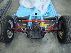 highly detailed VW beetle chassis