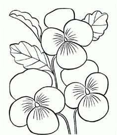 Flower Coloring Pages For Kids To Print