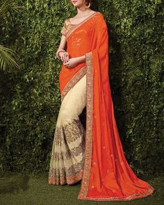 Celebrate the season of #Festival in these pretty shade of Pink and orange. Buy Designer Sarees Here: http://www.simaayafashions.com/resham-saree-for-diwali-sspa3302.html #Ethnic #Traditional #OnlineShopping
