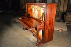 Unique desk made from an old piano. by Greenwoodbay on Etsy