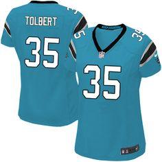 Women Nike Carolina Panthers #35 Mike Tolbert Limited Blue Alternate NFL Jersey Sale