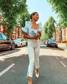 """Louise Thompson on Instagram: """"🧱 Even red bricks look beautiful on days like these. Life is so sweet."""" Louise Thompson, Red Bricks, White Jeans, Khaki Pants, Women's Fashion, Day, Sweet, How To Wear, Life"""