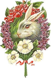 Rabbit with flowers - Easter