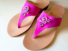 Sandali capresi artigianali con applicazione soutache by MABI