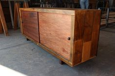 NEWCOMB sliding door reclaimed wood credenza by appendageandbough, $775.00