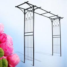 Rózsalugas, rózsafuttató  elegáns fém kerettel