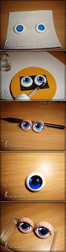 Глаза для игрушек из фимо и эпоксидки (2 МК)