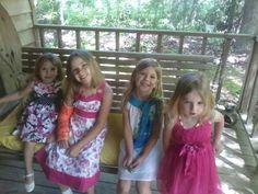 Callie (far left) Makayla (next to her)