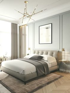 Quirky Home Decor Modern Minimalist Bedroom, Modern Luxury Bedroom, Contemporary Bedroom Furniture, Contemporary Interior Design, Luxurious Bedrooms, Interior Designing, Modern Interior, Contemporary Apartment, Contemporary Kitchens