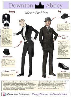 Downton Abbey mens fashion costume