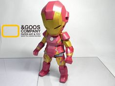 SD Iron Man Papercraft by N_Goos - http://www.papercraftsquare.com/sd-iron-man-papercraft-by-n_goos.html#Avengers, #IronMan, #MarvelComics, #SD
