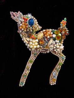 Baby Deer Fawn Vintage Jewelry Art Jewelry Mosaic Wall Art Gracie - pinned by pin4etsy.com