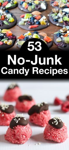 53 No-Junk Candy Recipes | Does Easter feel like Halloween's Spring cousin to you too? Just when we get rid of all that orange and black junk, we find the same junk six months later -- this time cloaked in happy pastel bunnies and tulips. There's no reason we should have to deprive anyone of sweets, especially during special holidays. Here are 53 candy recipes that contain zero junk -- no high fructose corn syrup, no artificial colors, no artificial flavors.