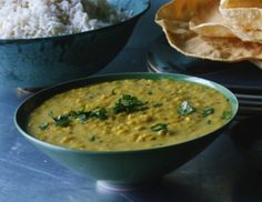 Seasoned Dhal (Masala Dhal)  Tried & True!  Had this for dinner tonight. Used probably 1/4 - 1/2 tsp hot pepper flakes, rather than the suggested 1/8. Also used ground coriander because the grocery store was out of cilantro and it turned out just dandy.
