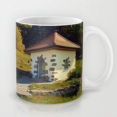 Small chapel up on the mountain Coffee Mug by patrickjobst Ceramic Mugs, Coffee Mugs, Custom Design, Mountain, Ceramics, Tableware, Ceramica, Pottery Mugs, Pottery