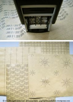 Date stamped wrapping paper from Paper, Plate, and Plane // so simple and on target.