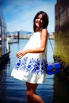 In to the blue #summer #outfits #inspiration