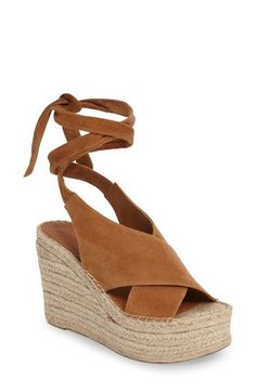 Free shipping and returns on Marc Fisher LTD Andira Platform Wedge Sandal (Women) at Nordstrom.com. Velvety suede panels cross at the foot and taper gracefully into wraparound ankle straps on a summery platform wedge with a dreamy romantic profile and an espadrille-inspired sole.
