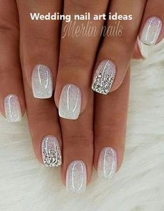 with nails white manicures & with nails white . with nails white nailart . with nails white pink . with nails white manicures . with nails white silver glitter . white nails with designs Shiny Nails, Fancy Nails, Cute Nails, Pretty Nails, My Nails, Polish Nails, Nails Today, How To Do Nails, Hair And Nails