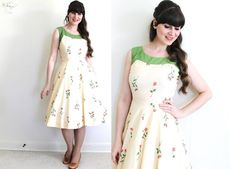 Hey, I found this really awesome Etsy listing at https://www.etsy.com/listing/234821720/1950s-dress-50s-spring-dress-1950s-rose