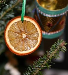 orange slice ornament DIY homemade natural decorations christmas