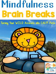 Mindfulness Task Cards to calm the wild animals in your classroom.  Learn and practice mindfulness strategies that help manage anger, anxiety, restlessness, stress, and boredom.   The 32 mindfulness task cards include a variety of relaxation strategies written through the eyes of the zoo animals. Mindful awareness, Brain Gym® movements, MindUp® tips, progressive muscle relaxation, visualization, and breathing exercises are highlighted throughout the cards.