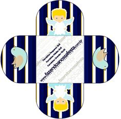 Forminhas Docinhos Redonda Batizado Azul Marinho Anjinho Loiro