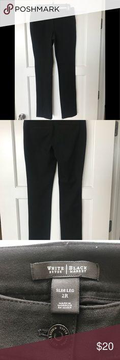 WHBM Black Slim Leg Stretch Pants 2R WHBM Black Slim Leg Stretch Pant Size 2R. Excellent Condition Very Flattering. No Smoking/Animal Free Home White House Black Market Pants Skinny