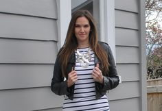 #WIWT Day 2 #NZFW LOVE my ElevenParis dress from #shopbop, Lovisa necklace and Samvara leather jacket