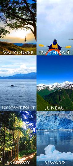 Vancouver | Ketchikan | Icy Strait Point | Juneau | Skagway | Seward The natural wonders of this all-encompassing Alaskan itinerary will blow you away. Adventure seekers find themselves mesmerized by the mountains, glaciers, and trekking opportunities in these famed destinations.