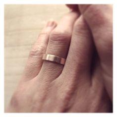 4mm Wide Women's Rose Gold Wedding Ring - Handmade 14k gold Wedding Band - Custom Handmade Palladium, Gold, Silver