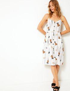 172ceaa06f Shirred Slip Beach Dress in 2019