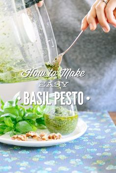 WOW! Sooo good and easy. This basil is so simple to make and packs amazing flavor. So versatile, too. Plus freezing tips.