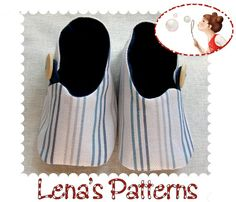 Baby Shoes in Asian Style Easy Sewing Pattern - 0-24 months