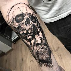 """Fredão Oliveira on Instagram: """"Viking Muito obrigado @robsongomides Feito na @inkonik_tattoo_studio #electricink"""""""