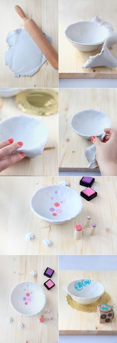 Air Dry Clay bowls