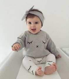 Nice 0-2Y Newborn Kids smile printed sets Baby Boys Girls Clothes T-shirt  Tops + Pants Outfits Sets 2Pcs -  15.45 - Buy it Now! 33a3be8e3