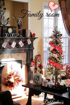 Family room decked out for Valentine's day