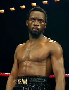 Nigel Benn, the dark destroyer, who fought Mclellan in one of the most savage fights in boxing history.