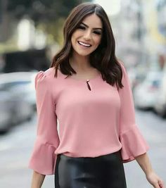 Cute Dresses, Tops, Shoes, Jewelry & Clothing for Women Blouse Styles, Blouse Designs, Stylish Dresses, Fashion Dresses, Cute Blouses, Blouse Outfit, Beautiful Blouses, Indian Designer Wear, Look Chic