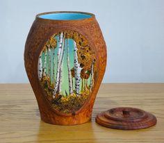 Carved Plum Vase